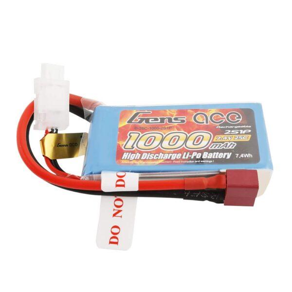 GensAce 2S 7.4V 25C 1000 mAh Conector T