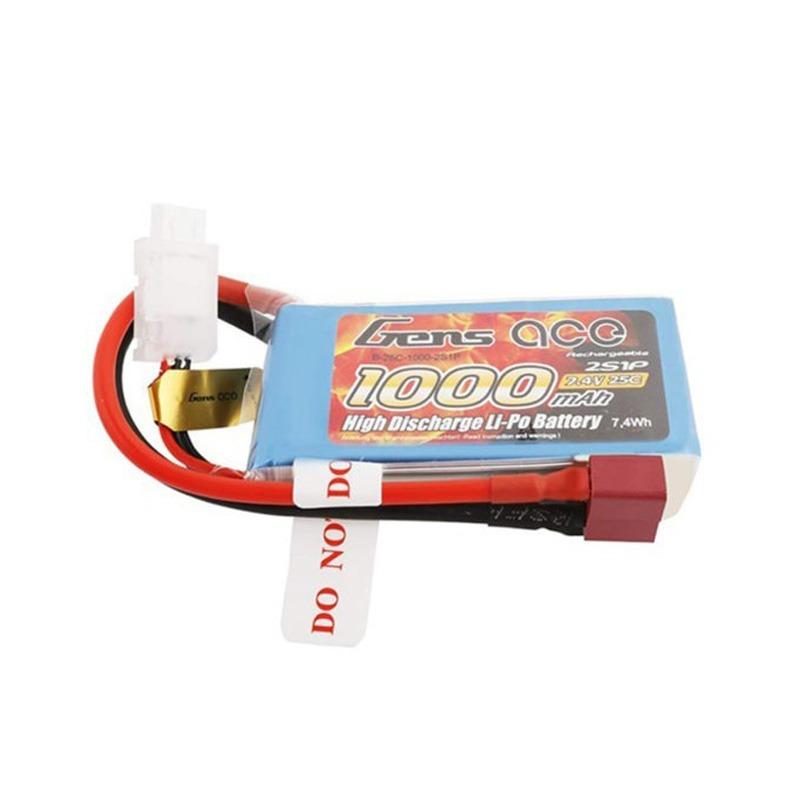Batería Gens Ace 2S 7.4V 25C 1000 mAh Conector T
