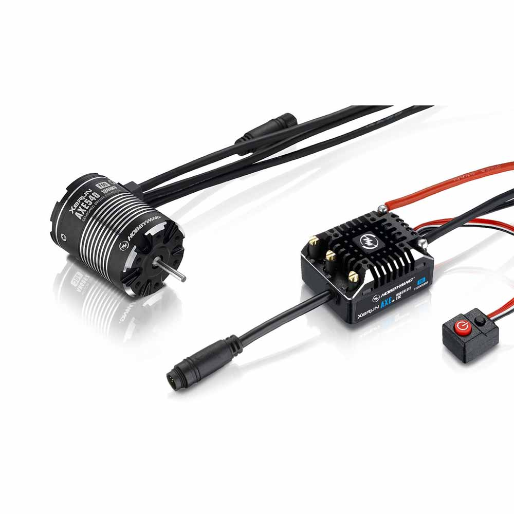 Combo Hobbywing Xerun Axe540 FOC V1.1 para Rock Crawler 1800kV