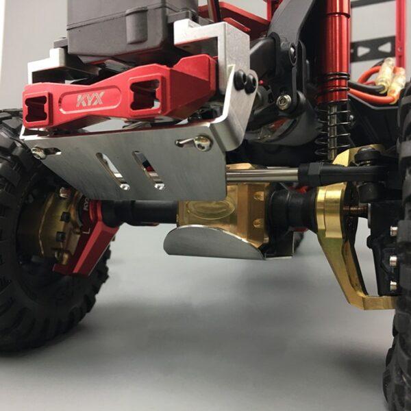 KYX 1/10 Protector de Deslizamiento Superior Delantero en Acero Inoxidable para Traxxas TRX-4