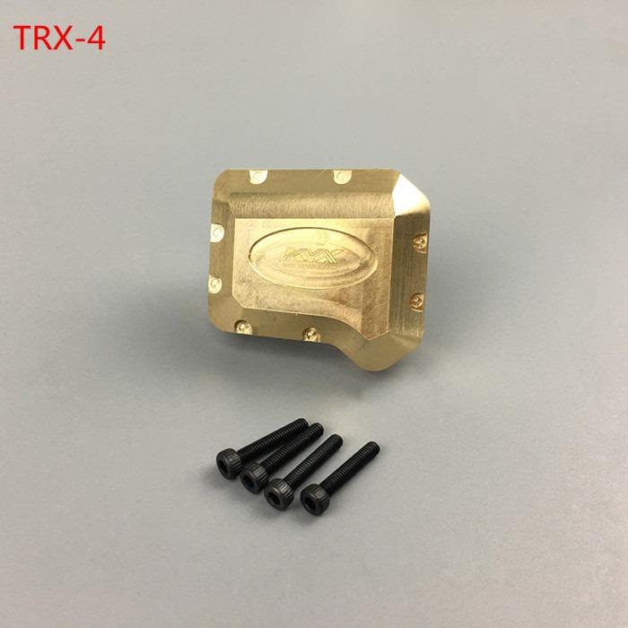 KYX 1/10 RC Cubierta de Diferencial del Eje en latón para Traxxas TRX-4