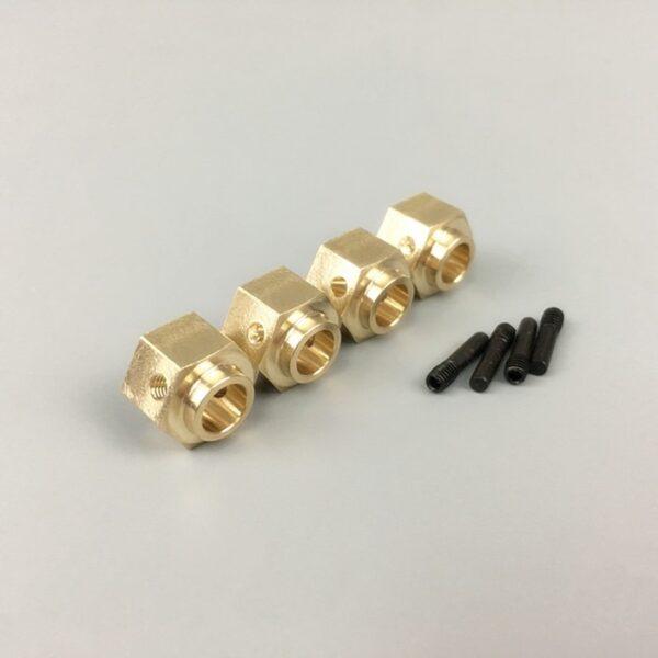 KYX Cubo de Rueda de Latón 1/10 de 12 * 8 mm para TRAXXAS TRX-4 ( 4 piezas)