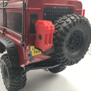 KYX Parachoque Trasero para Traxxas TRX-4 1/10 RC Crawler Scale Metal Realista