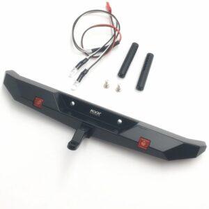 KYX Parachoques Trasero Metal Realista para TraxxasTRX-4 con LED