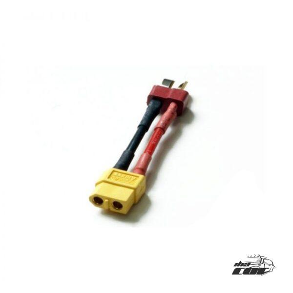 Adaptador conexión batería en T a conexión XT60 Baño Oro