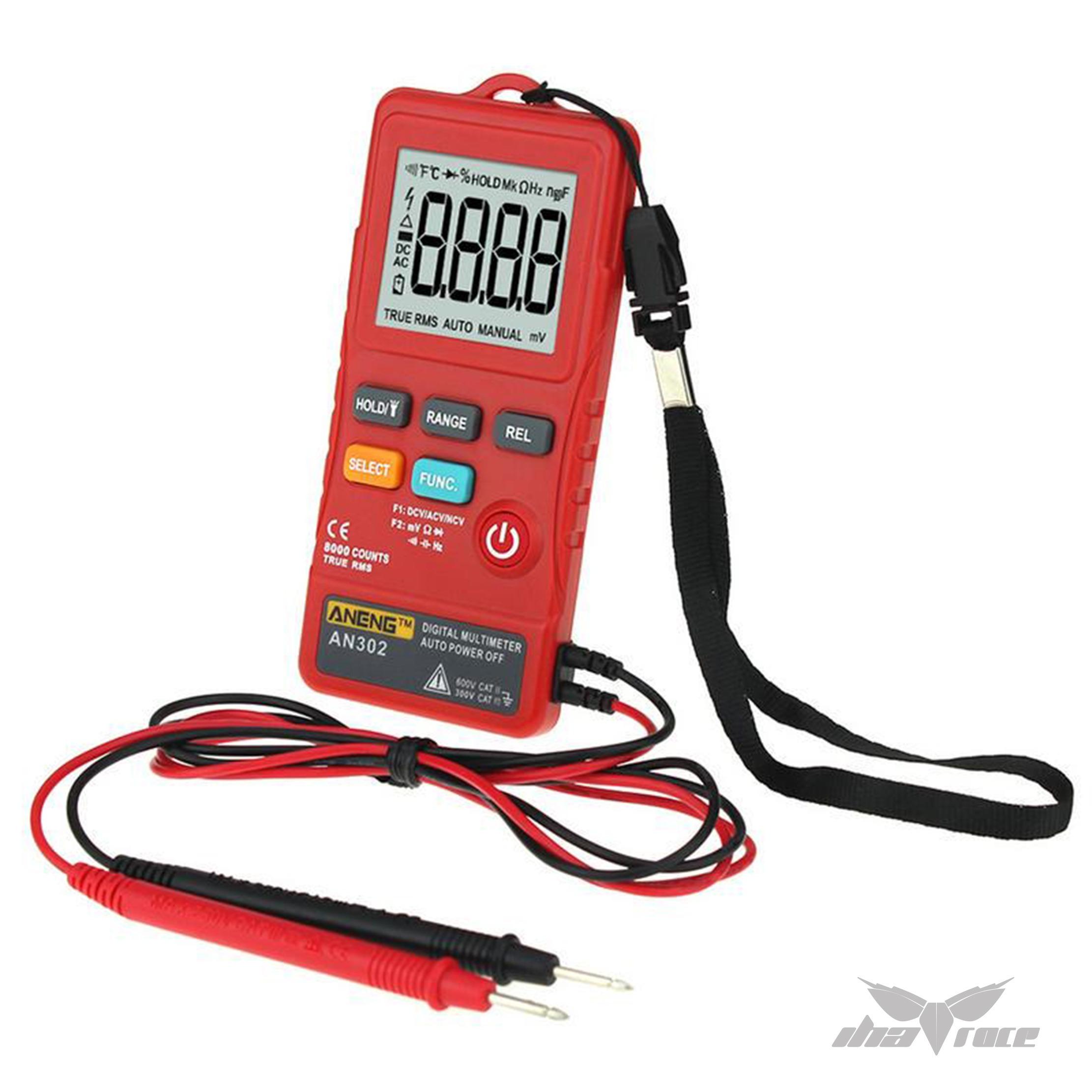 Multímetro digital con linterna - Rojo
