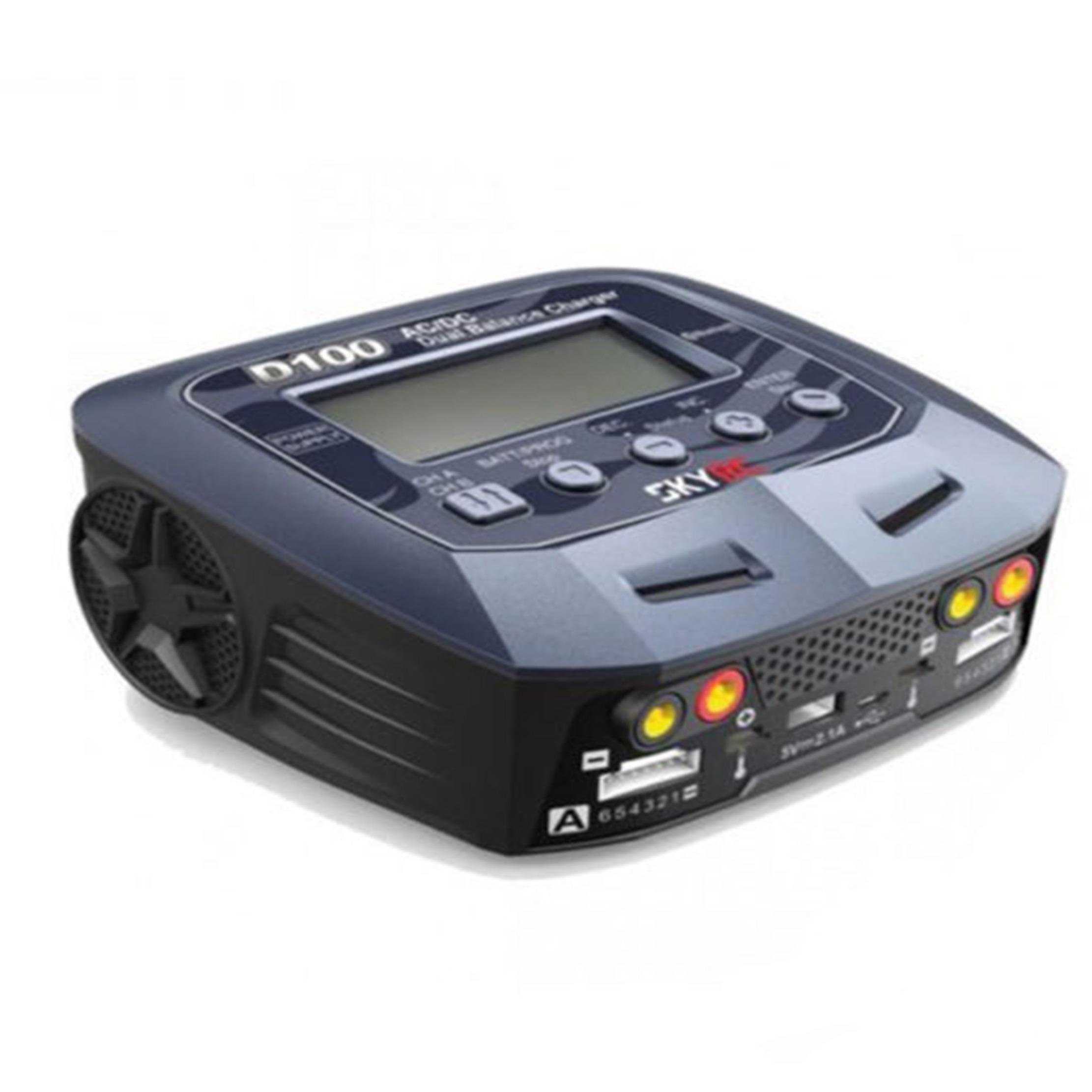 Cargador / Balanceador / Dual SKYRC D100 V2 AC/DC 100W X 2