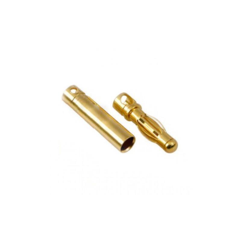 Conector Banana Chapado en Oro 2mm, 3mm, 3,5mm, 4mm (pareja)