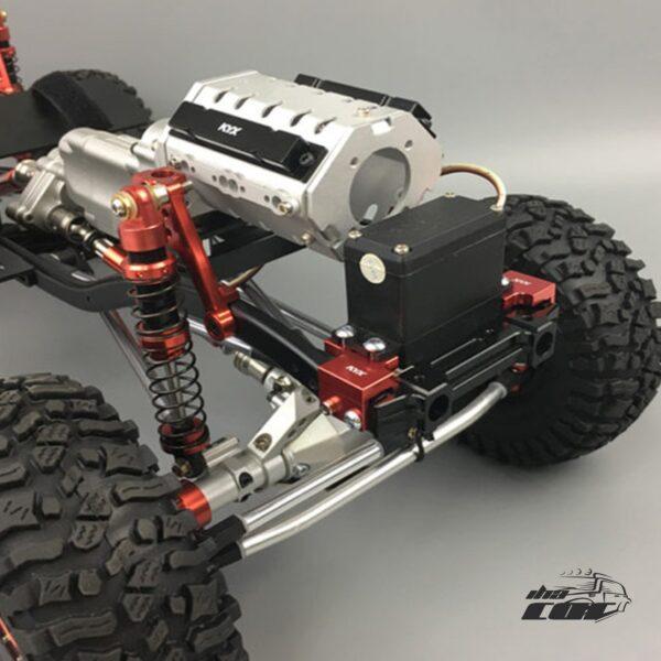 KYX Caja de Cambios Mecanizada CNC de Alta Velocidad con dos velocidades V8 para Axial SCX10 II AX90046