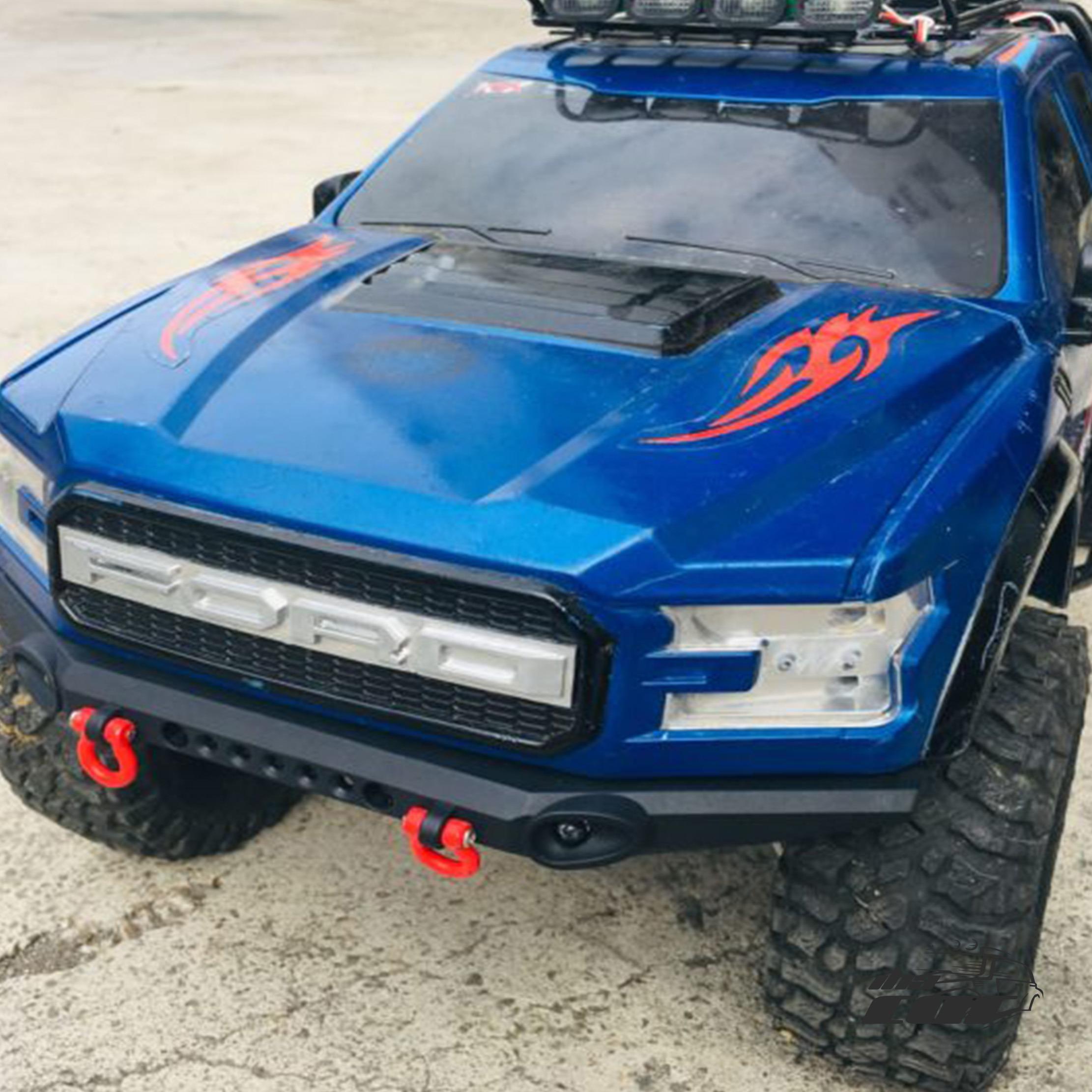 KYX Partes del Cuerpo Duro TRX-4 Ford Raptor DIY - Parachoques de Nylon