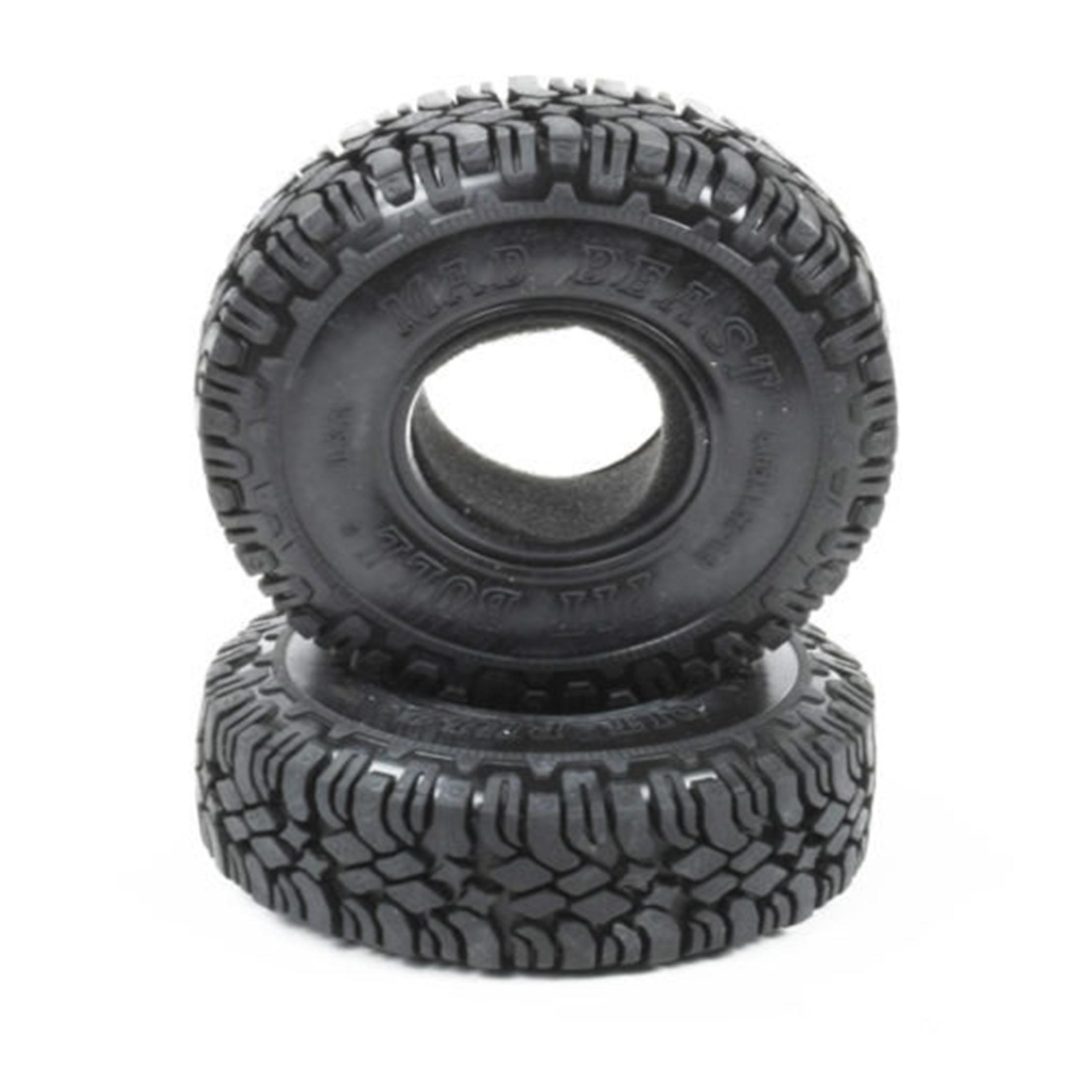 Neumáticos PitBull Mad Beast 1.9 a escala con incrustaciones y Foam (2 piezas)