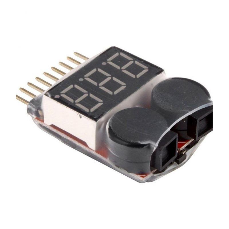Probador baja tensión de Batería con Zumbador, 3.7 - 30 V  1-8 Lipo/Li-in