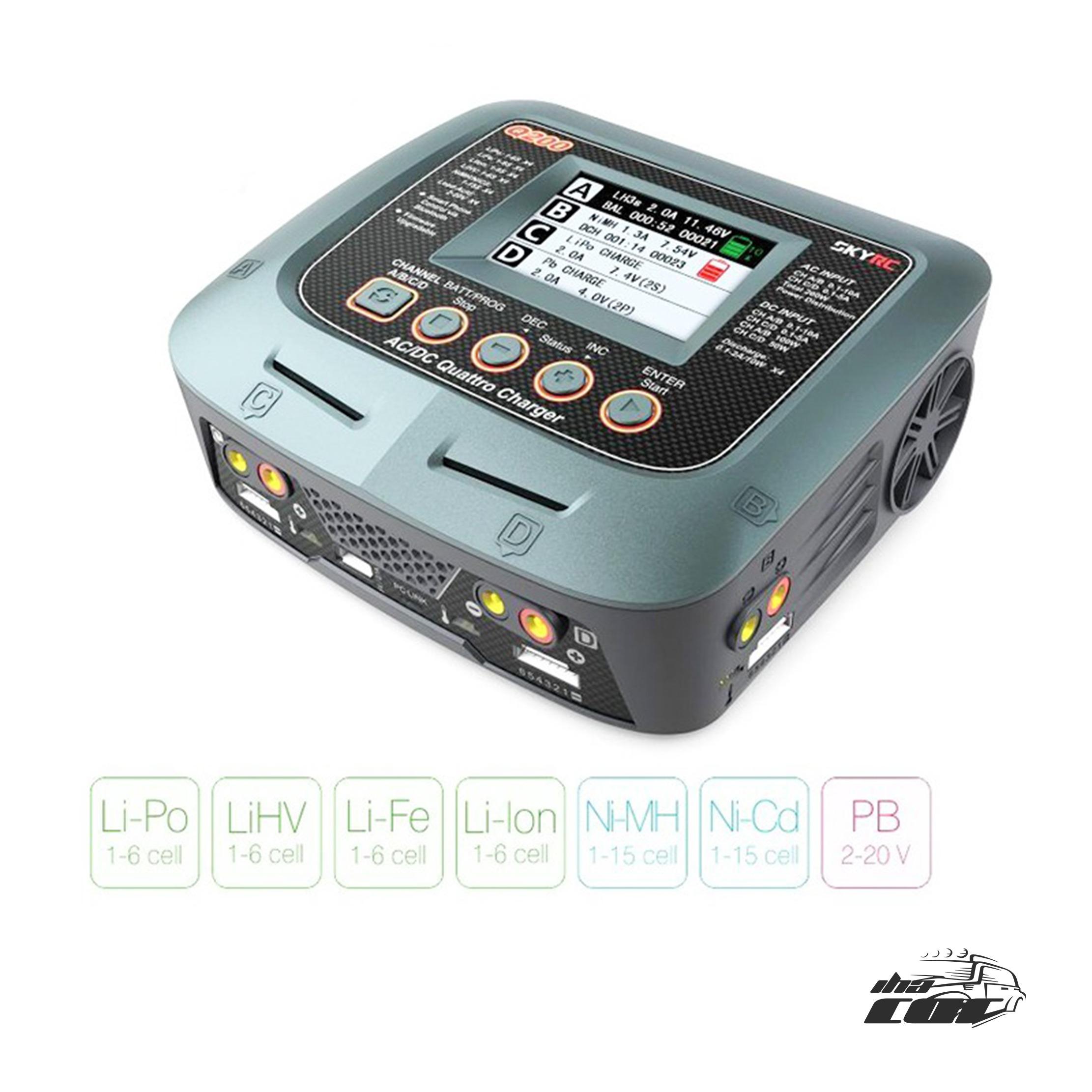 SkyRC Q200 10A / 300W 220V - 4 Salidas