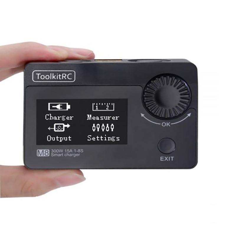ToolkitRC M8 300W 15A Cargador, Comprobador de células, Servo Tester