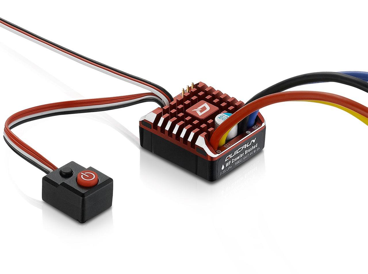 Hobbywing QuicRun WP1080 Crawler Cepillado ESC 80A, BEC 6A