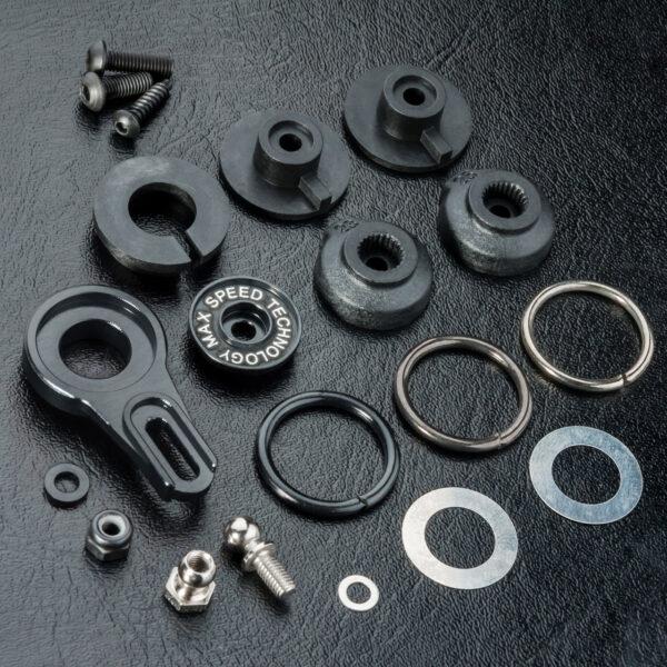 MST Salva Servo 8-way regulable aluminio negro