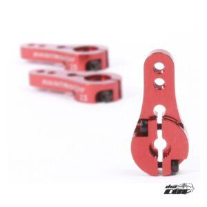 Robitronic Brazo de Servo Alu 25Z Rojo Corto