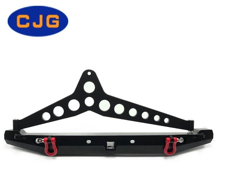 Repuestos CJG Parachoques Trasero Metal CNC TRX-4, SCX10 y SCX10 II 90046 con Led