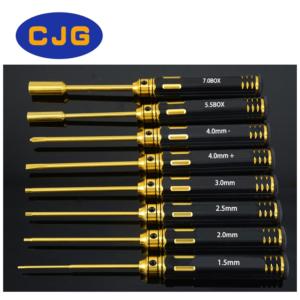 Set atornilladores/destornilladores titanio (8 piezas)