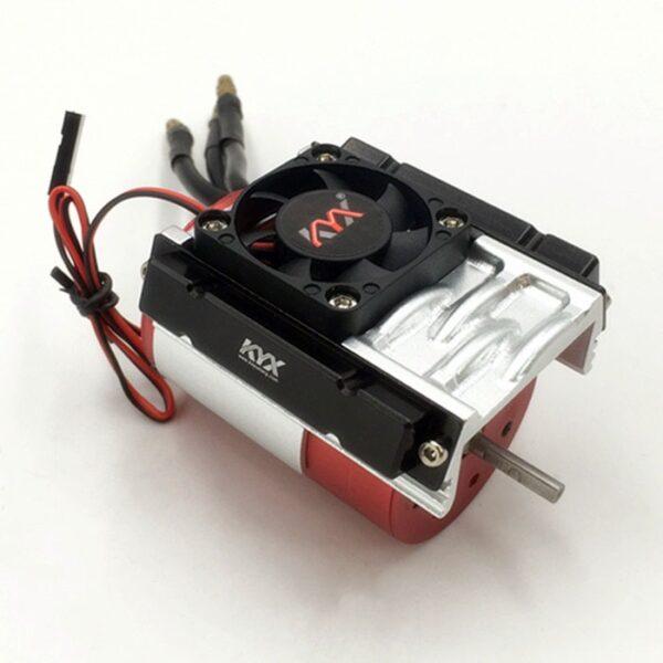 KYX 1/10 RC Crawler disipador de calor de metal para TRX-4 SCX10 II D90