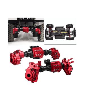 Repuesto CJG Juego de Ejes Delantero y Trasero de Aluminio para RC Crawler