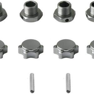 Repuesto CJG Pack de 4 Tuercas Hexagonales M17 Anti-polvo de Aluminio