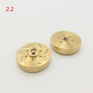 """Repuesto KYX Buje hexagonal de rueda de latón 1,9""""/2,2"""" (2 unidades)"""