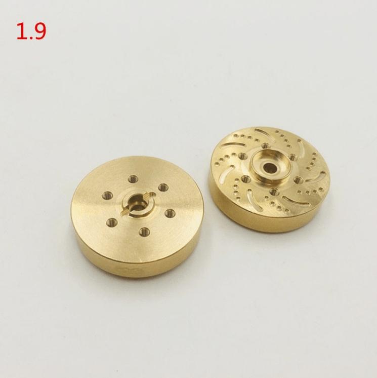 Repuesto KYX Buje hexagonal de rueda de latón 1,9