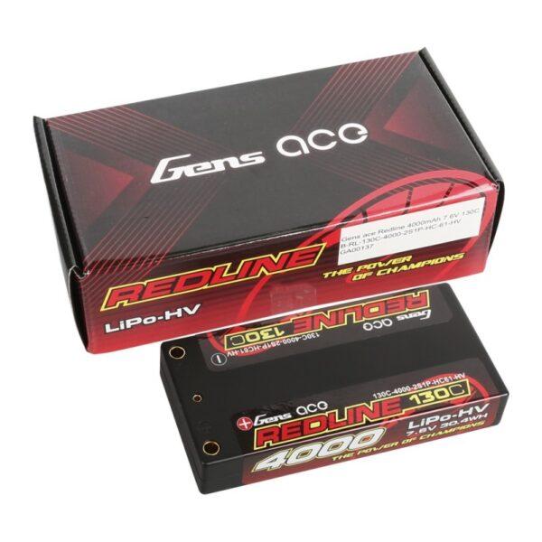 comprar mas barata Batería Lipo ace Redline Series 4000mAh 7.6V 130C 2S1P HardCase 61 drones de carrera fpv
