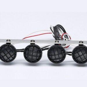Metal Luz de techo con marco metálico para RC Crawler