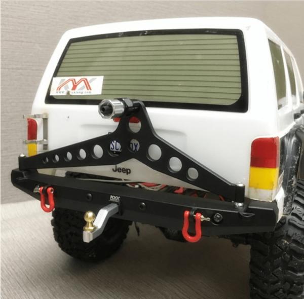 Repuesto KYX Parachoques trasero de aleación para Traxxas TRX-4 con cabestrante