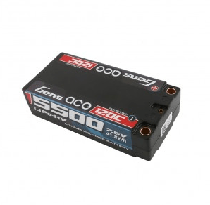 Gens ace 5500mAh 7.6V HV 120C 2S2P Racing Series HardCase Lipo65