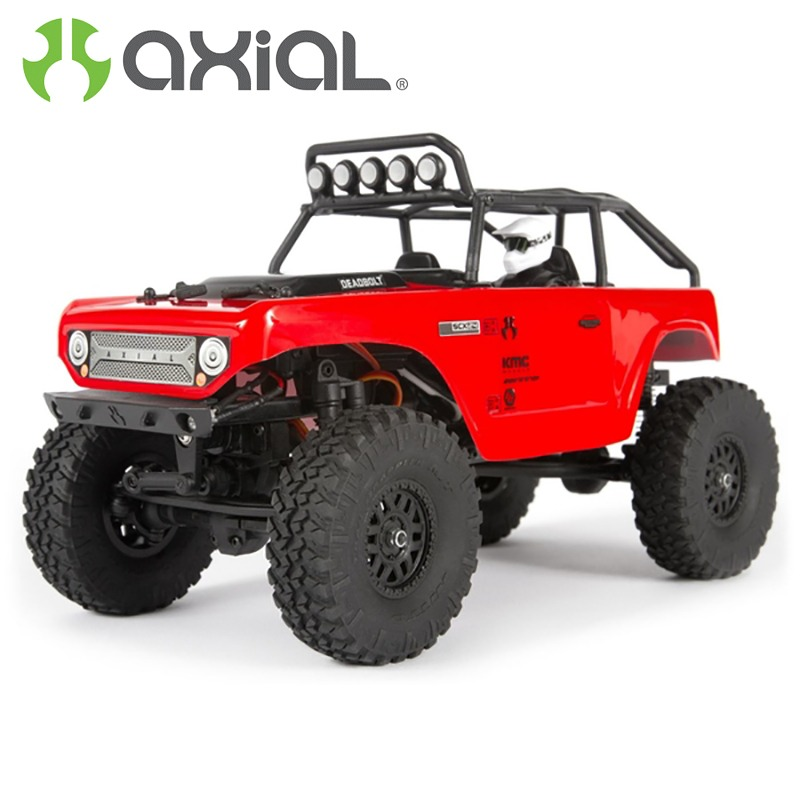 AXIAL SCX24 Deadbolt Rock Crawler 1/24 4WD RTR Rojo