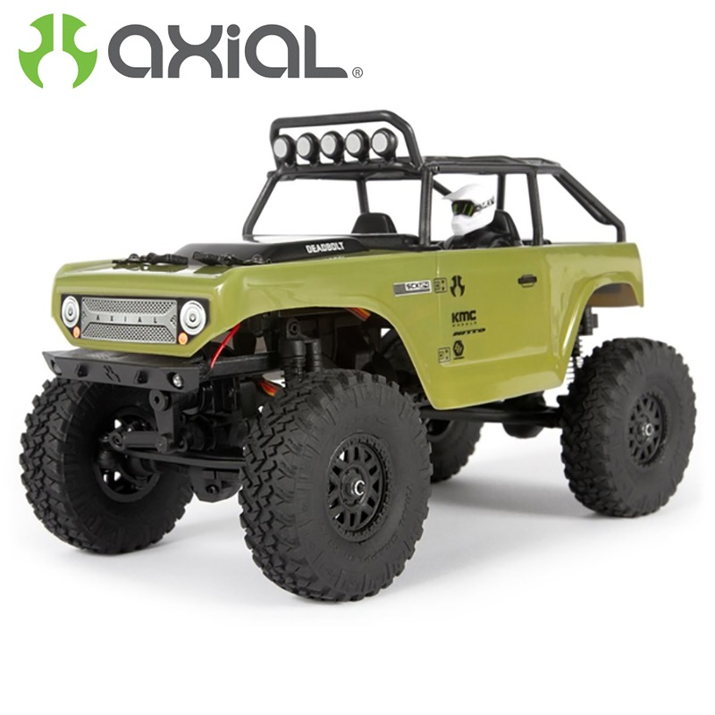 AXIAL SCX24 Deadbolt Rock Crawler 1/24 4WD RTR Verde Oliva