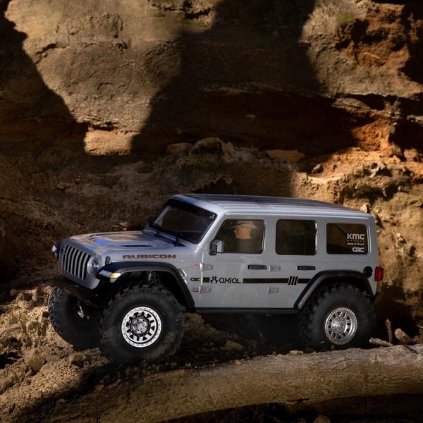 envío desde españa jeep wrangler scx10 III gris