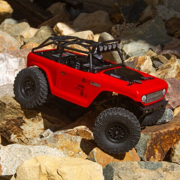 rc crawler axial escala 24 rojo
