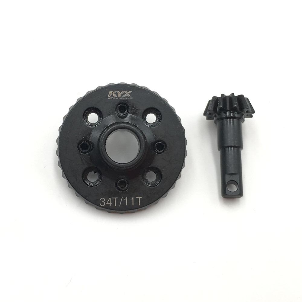Repuesto Set de Engranaje Diferencial KYX Eje de 34T/11T para Rc Crawler TRX-4